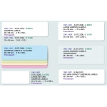 D 13187 LW LRG ADDRESS LABELS 89x36 24R