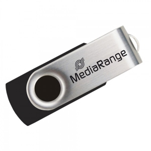 MediaRange USB 2.0 Flash Drive 128GB (Black/Silver)